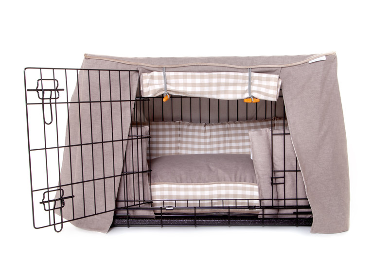 Hugo_and_Otto_Little_Tew_Dog_Crate_Cover_dressed_with_Bumper_and_Boxy_Dog_Cushion_jpeg