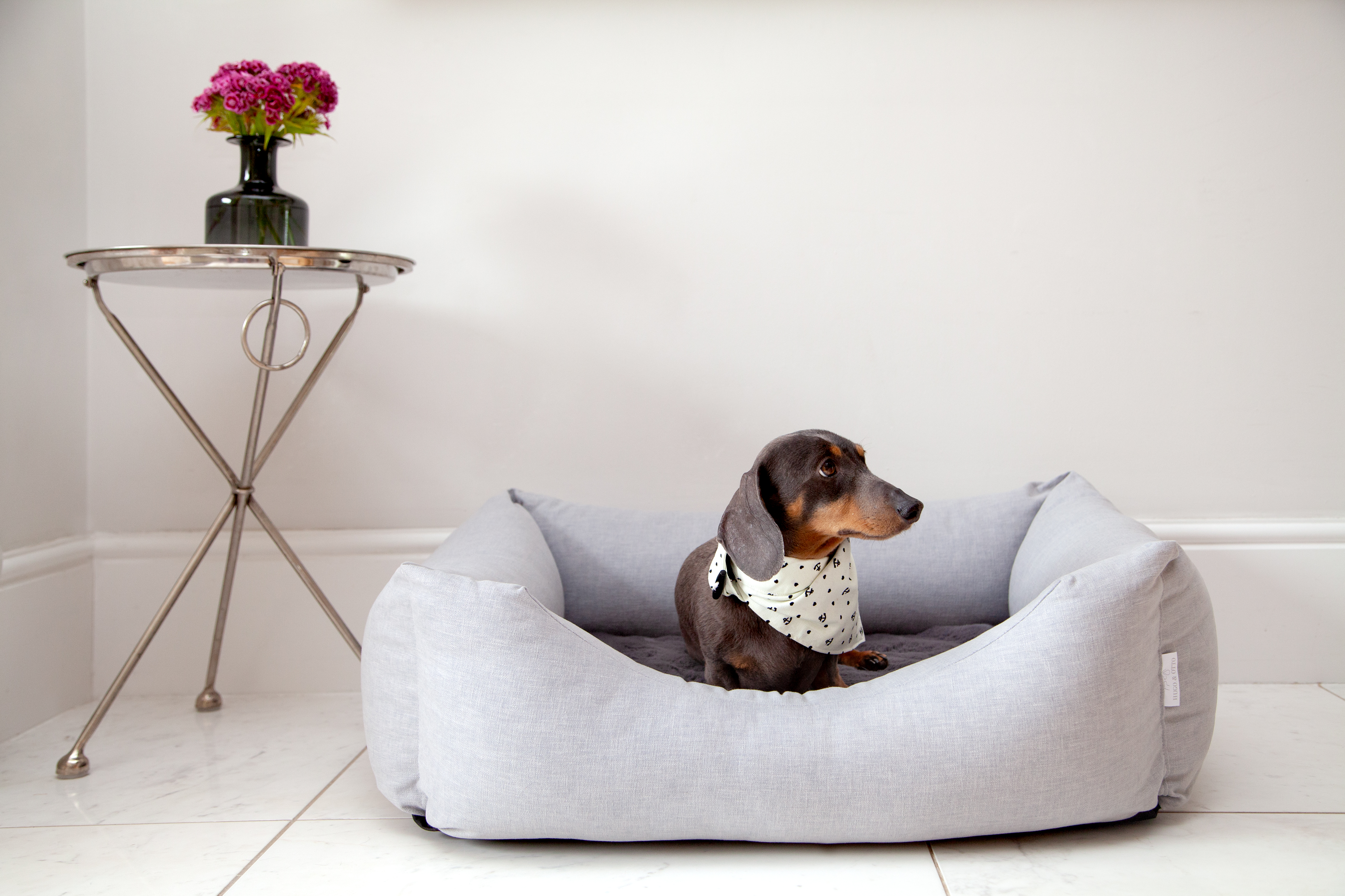Hugo & Otto Stretton Dog Bed Ice, Stretton Dog Bed - Ice, Stretton Dog Bed, Luxury Dog Bed, Luxury Dog Bed with Memory Foam, Memory Foam Luxury Dog Bed, Memory Foam Dog Bed, Easy Access Dog Bed, The Best Dog Bed, The Best Memory Foam Dog Bed, Luxury Dog Baskets, Designer Dog Beds,