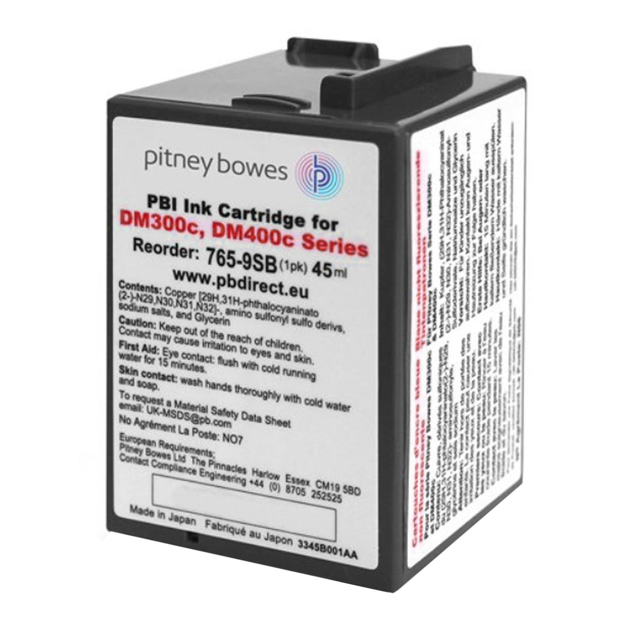 Original Pitney Bowes DM300c DM400c Franking Ink Cartridge