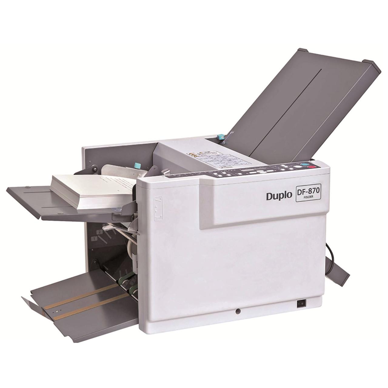 Duplo DF-870 - Automatic Paper / Letter Folding Machine