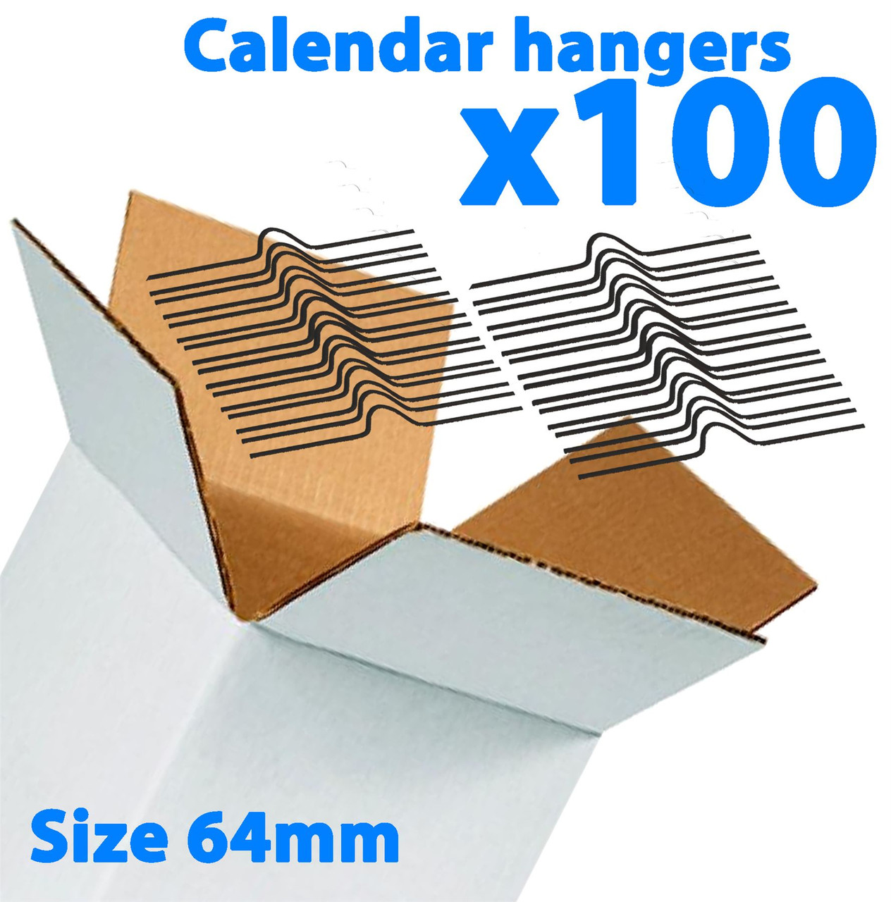 Galaxy 64mm Calendar Wire Hangers x 100