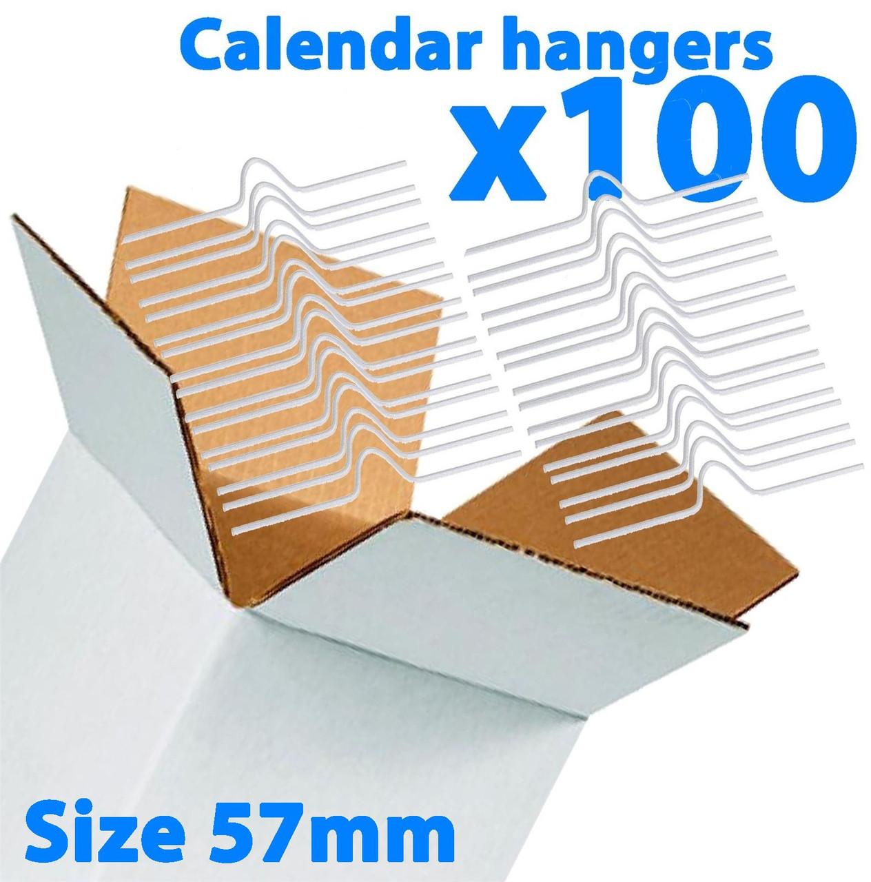Galaxy 57mm Calendar Wire Hangers x 100