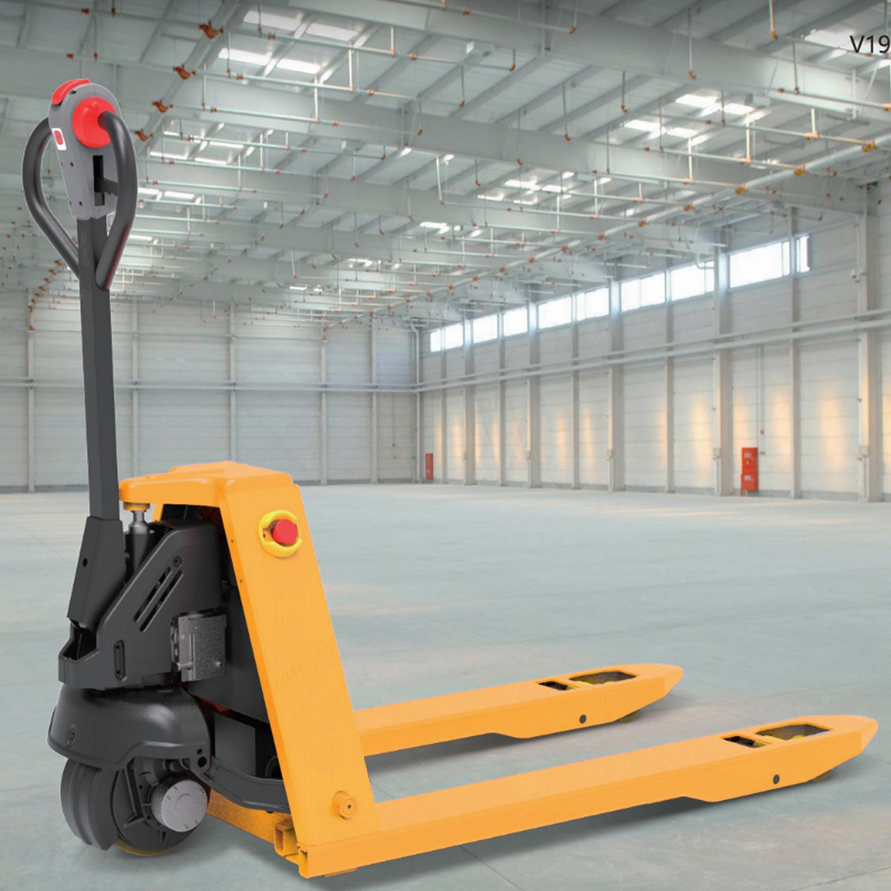 Electric Pallet Truck, Fully Powered Drive and Lift with Li-ion battery. 1500kg Capacity