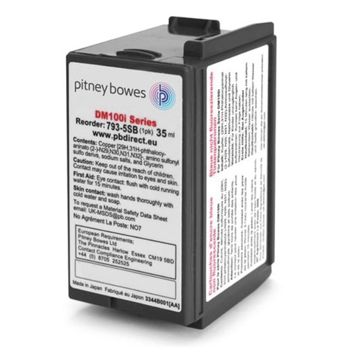 Original Pitney Bowes DM100i - DM200i Franking Ink Cartridge