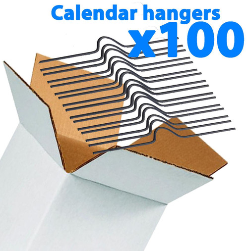 Galaxy 200mm Calendar Wire Hangers x 100