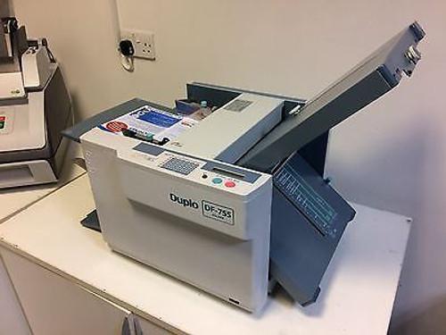 Duplo DF-755 - A3 A4 A5 Automatic Paper Folding Machine - REFURBISHED