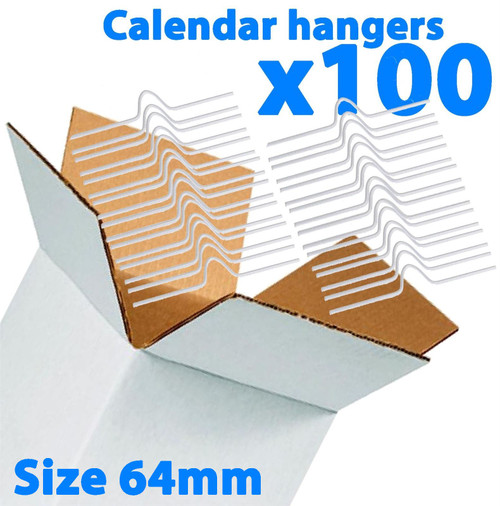Galaxy 64mm Calendar Wire Hangers x 100