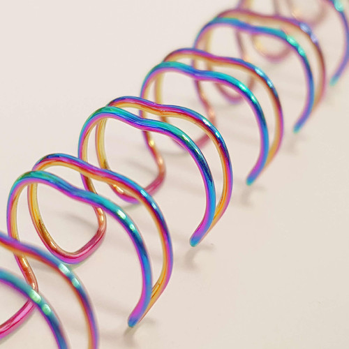 Galaxy Wire Binders Pack - 6.4 mm Pitch 3:1 - Iridescent Rainbow