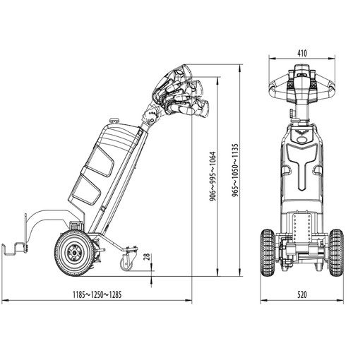 Fully Electric Powered Tow Truck - ideal for retail cages / airport use