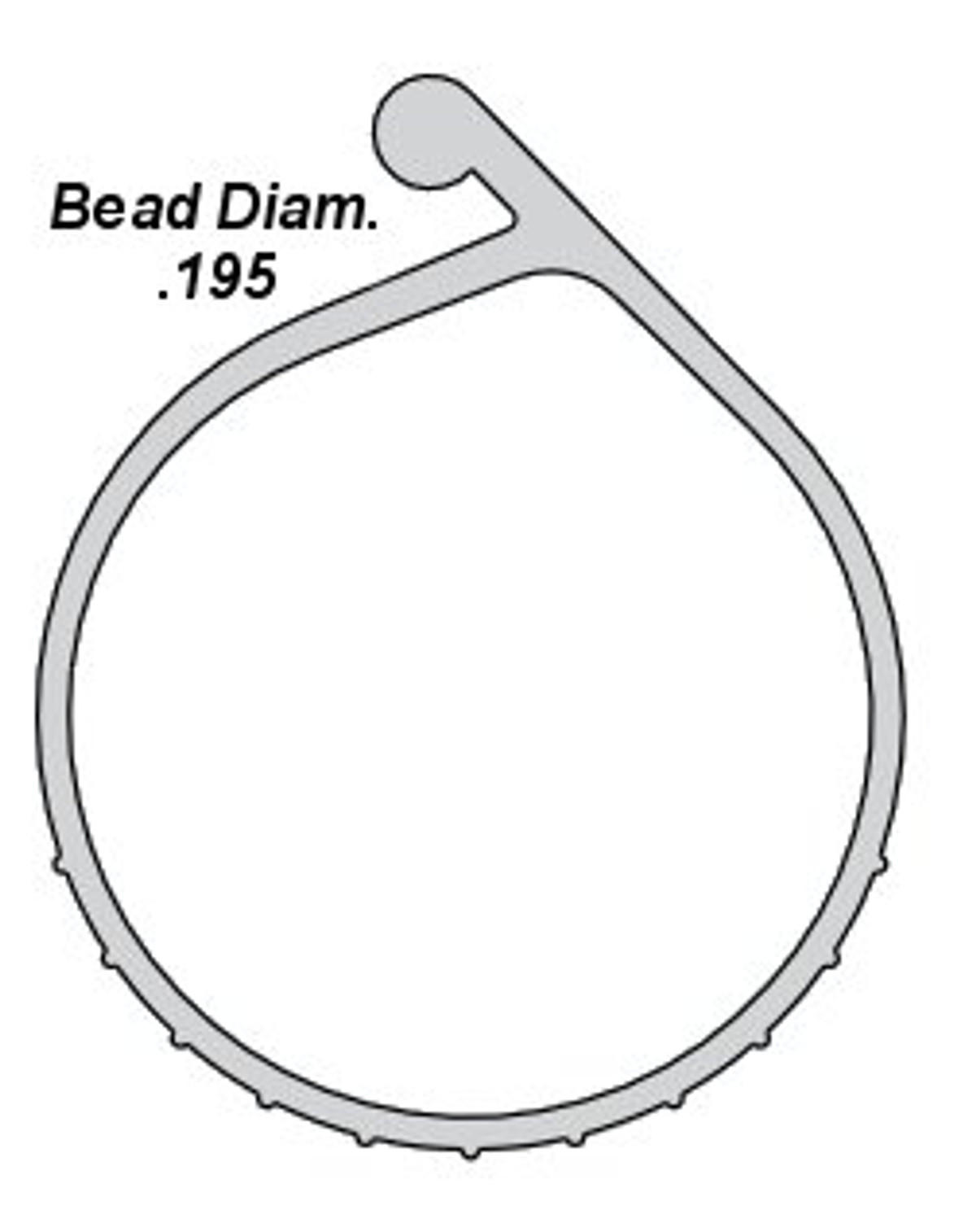 P Bulb Bottom Seal 1 1 2 Bead End Bulb By The Foot