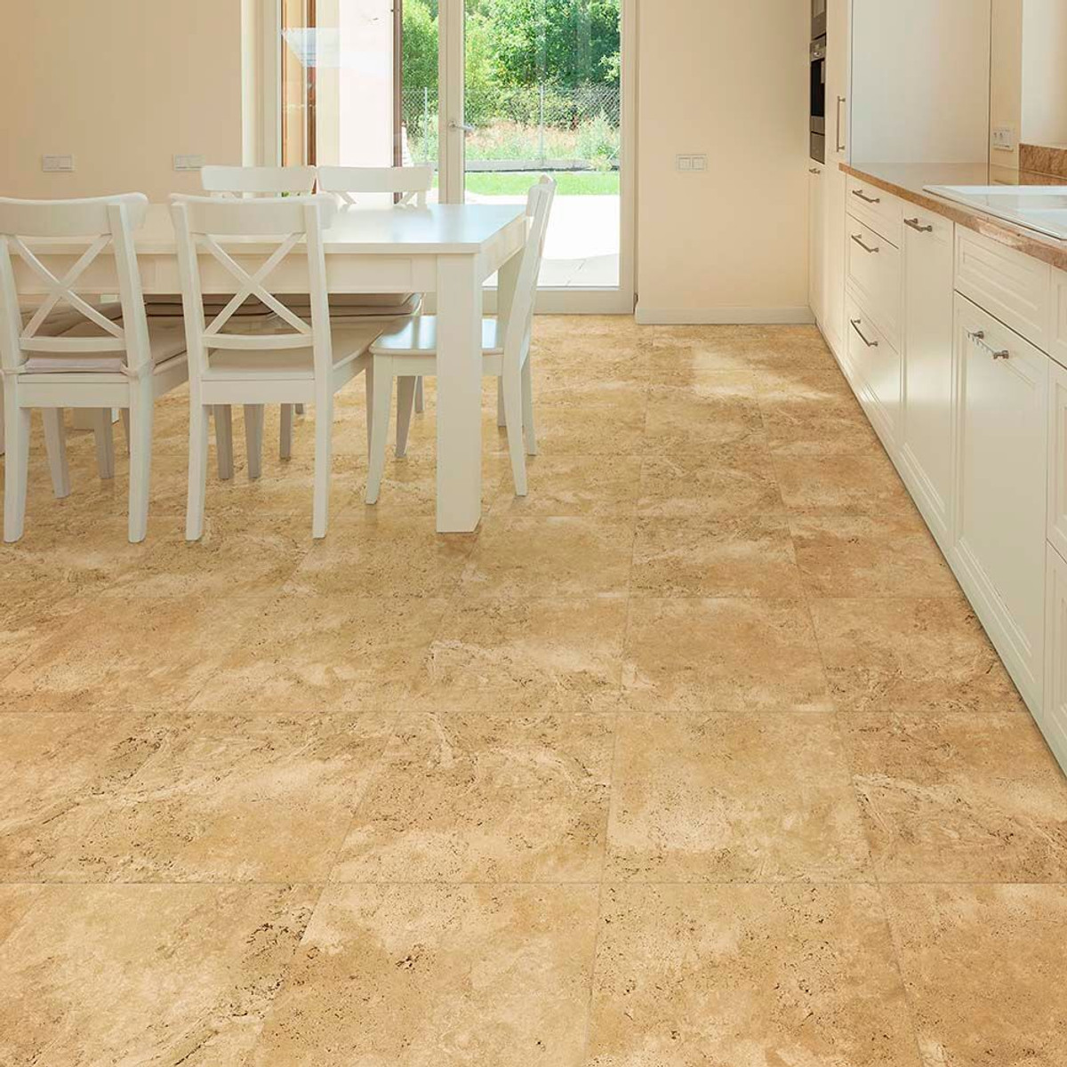 Perfection Floor Tile Natural Stone Travertine Camel Elite