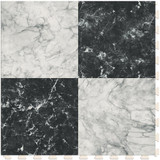 Checkerboard - White and Black Marble