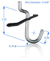 "5/8"" Curved Hook with Peg Lock (8 Pack)"