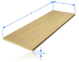 "Wood Shelf Plank 36"" x 12"" - Maple"