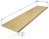 "Wood Shelf Plank 48"" x 12"" (3 Colors Available)"