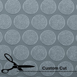 G Floor Small Coin Vinyl Roll Out Flooring, Custom Cut Lengths