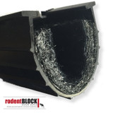 Xcluder Pest Proof Rubber Seal.  RodentBlock includes fill fabric to create a tough barrier.