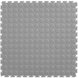 Perfection Floor Tile Coin Pattern Light Grey, Flexible Tile