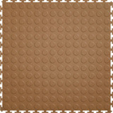 Flexi Tile by Perfection Floor Tile, Coin Tan
