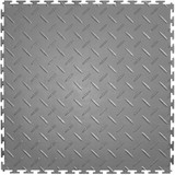 Perfection Floor Tile Flexi Tile Diamond Pattern Light Grey