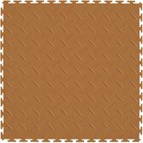 Flexi Tile Perfection Floor Tile Diamond Pattern Tan, Interlocking Flexible Tiles