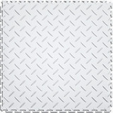 Flexi Tile Perfection Floor Tile Diamond Pattern White, Flexible Interlocking Tiles