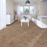 Perfection Floor Wood Grain - Elm Bordeaux used in a living room - Flexi Tiles