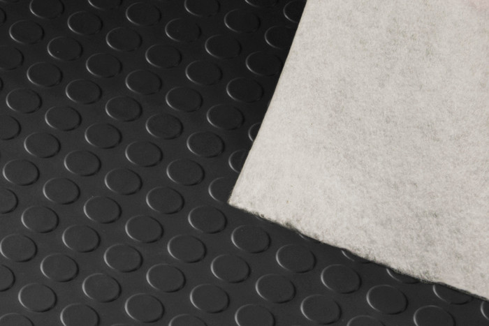 Trailer Flooring Coin Pattern 75 Mil Felt Back Slate Grey