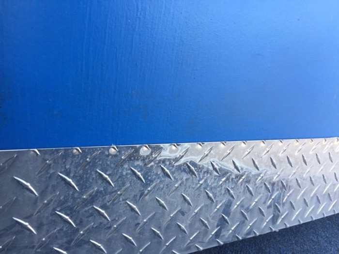 Door Kick Plate, Polished Diamond Plate Aluminum