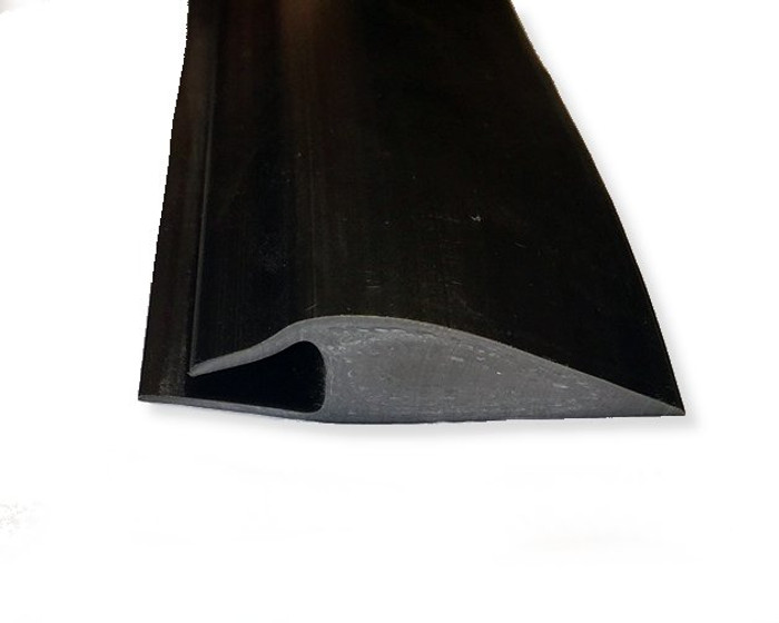 Lock Tile Slip on Transition Edge by the Foot, available in Black or Dark Grey