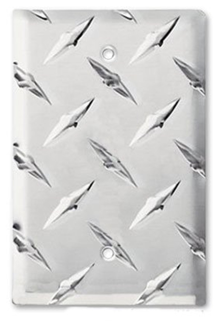 Aluminum Diamond Plate Blank Switch Cover