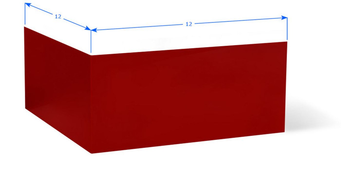 Aluminum Wall Base Molding Outside Corner Red