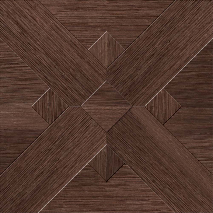 Perfection Floor Wood Grain- Walnut Bordeaux - Interlocking Flexible Tiles