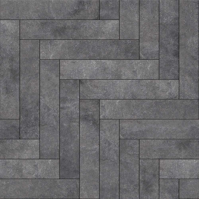 Perfection Floor Tile Flexible Interlocking Tile in Chevron Blackstone