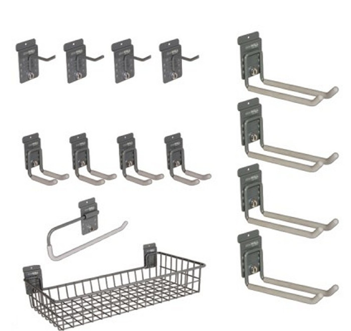 StoreWall 14 Piece Kit, Hooks and Basket