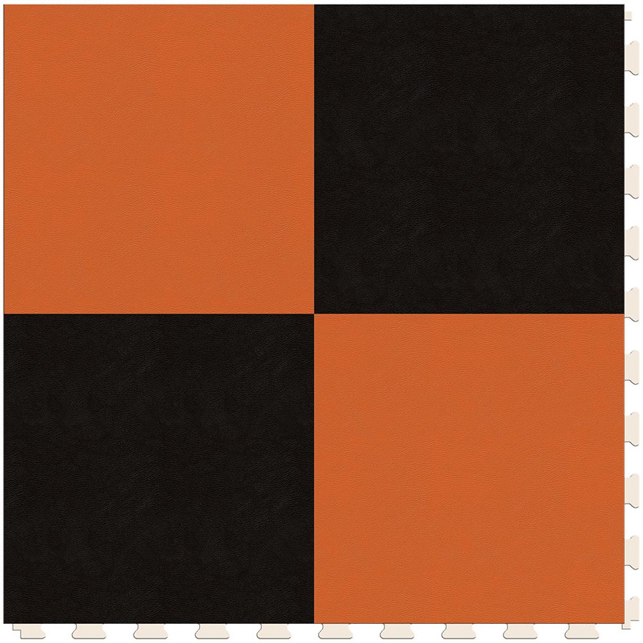 Checkerboard - Black and Orange