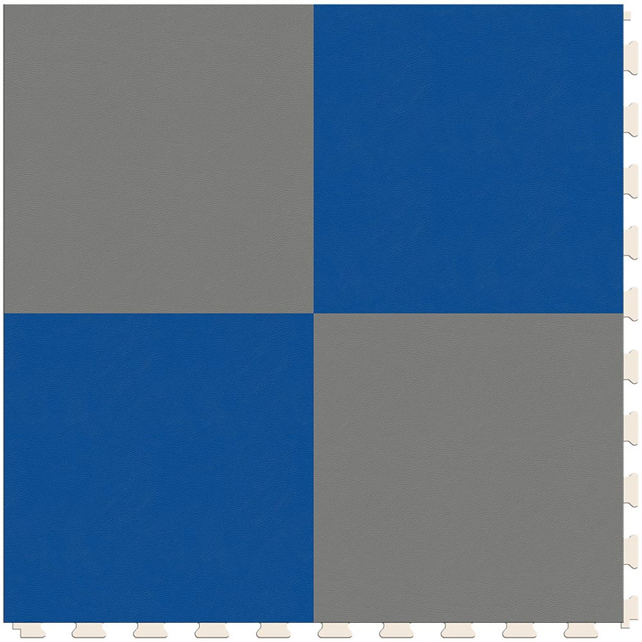 Checkerboard - Silver and Blue