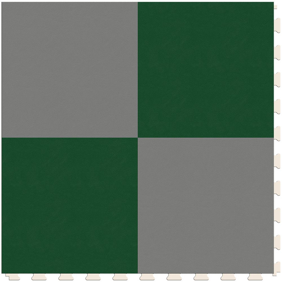 Checkerboard - Silver and Green