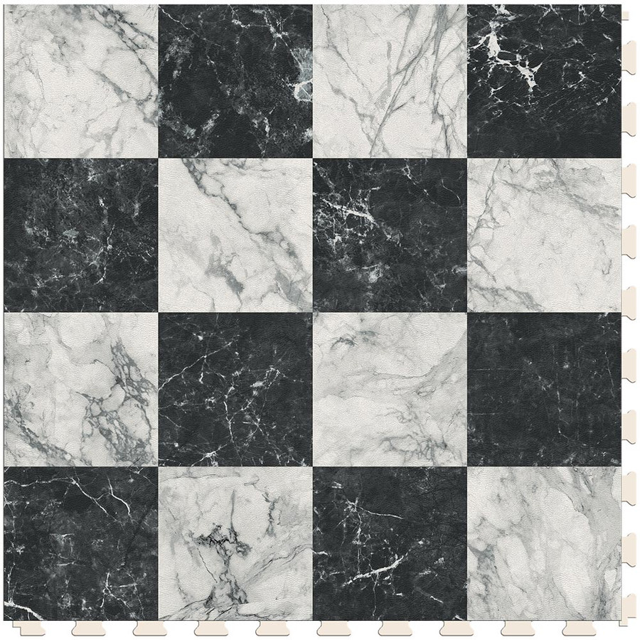 Checkerboard - White and Black Marble  Small