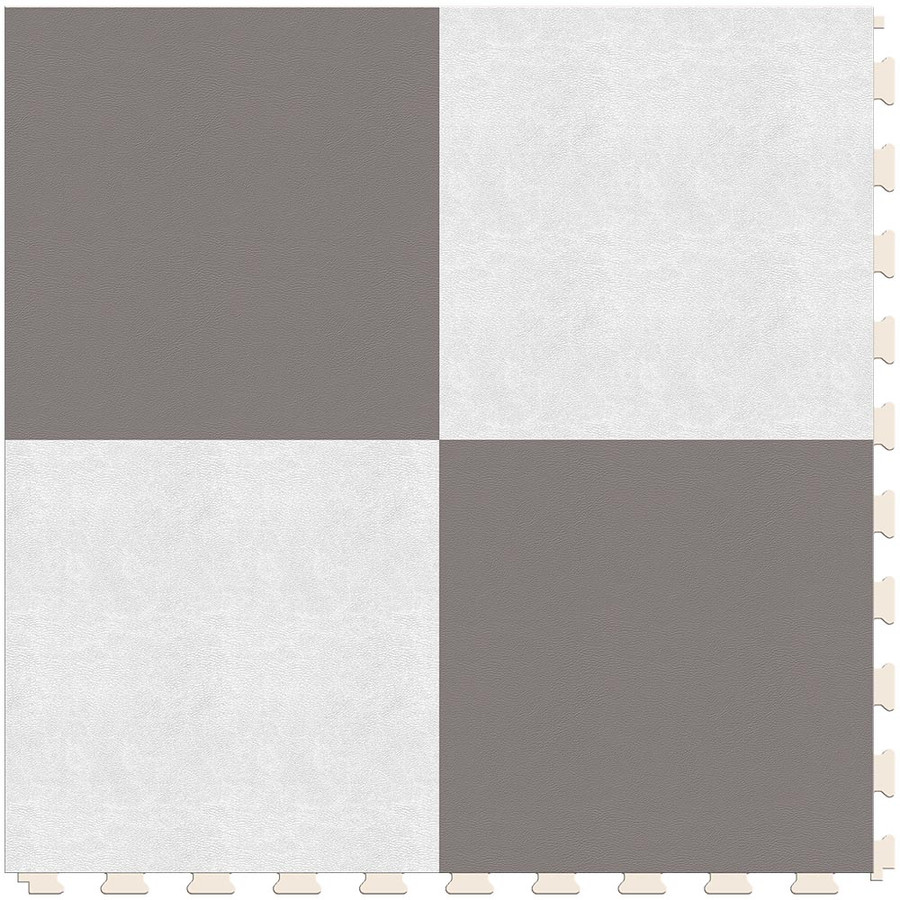 Checkerboard - Silver and White