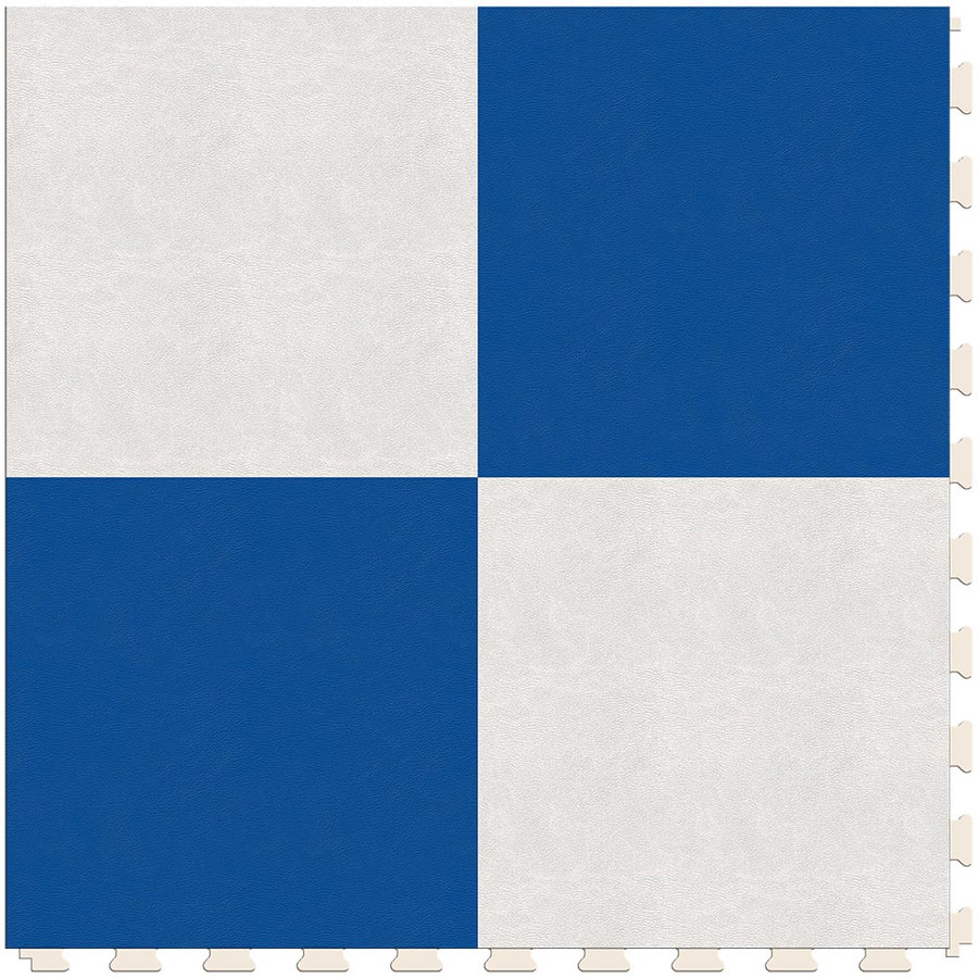 Checkerboard - White and Blue