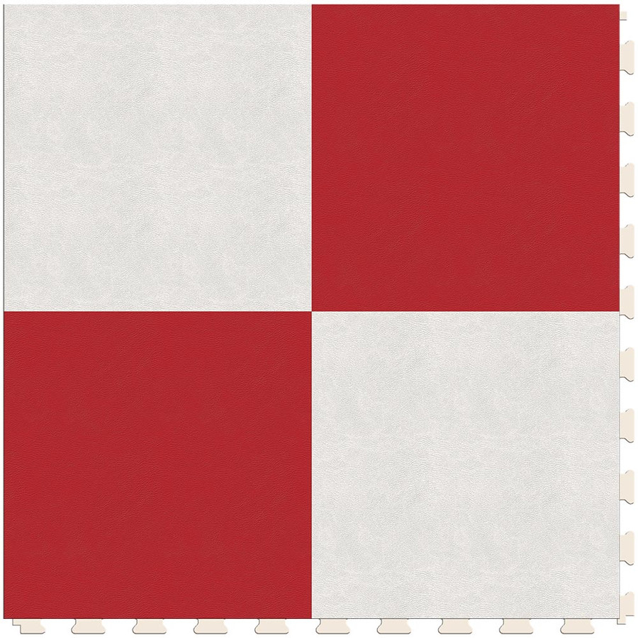 Checkerboard - White and Red