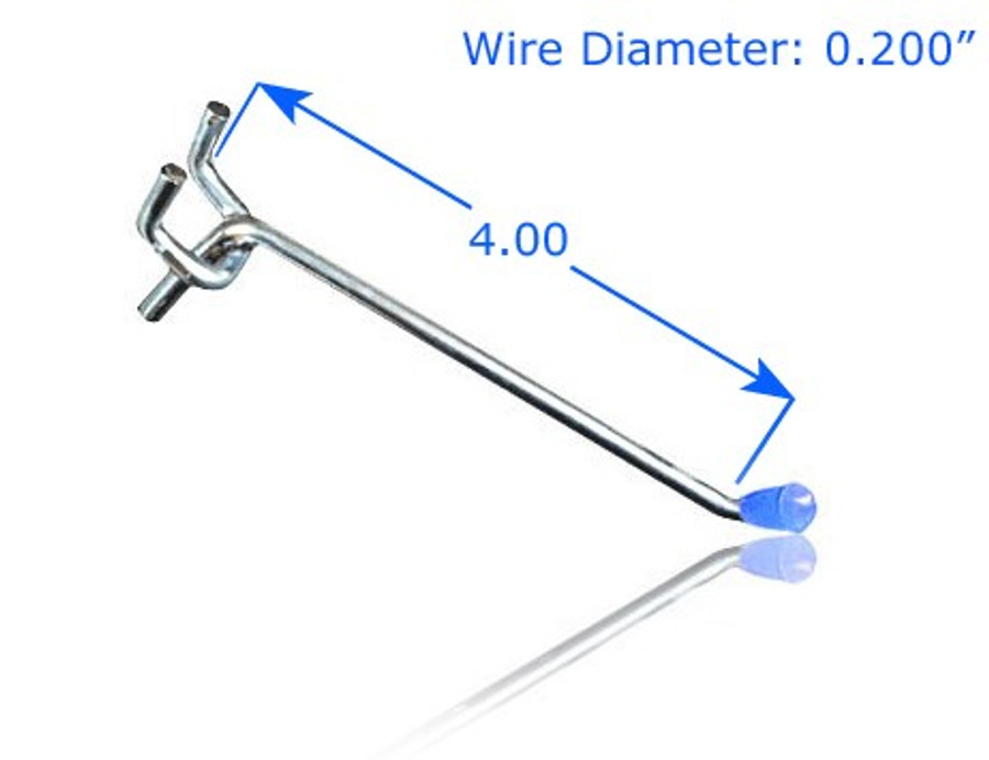 """Chrome Plated 4"""" Double Prong Straight Hook"""