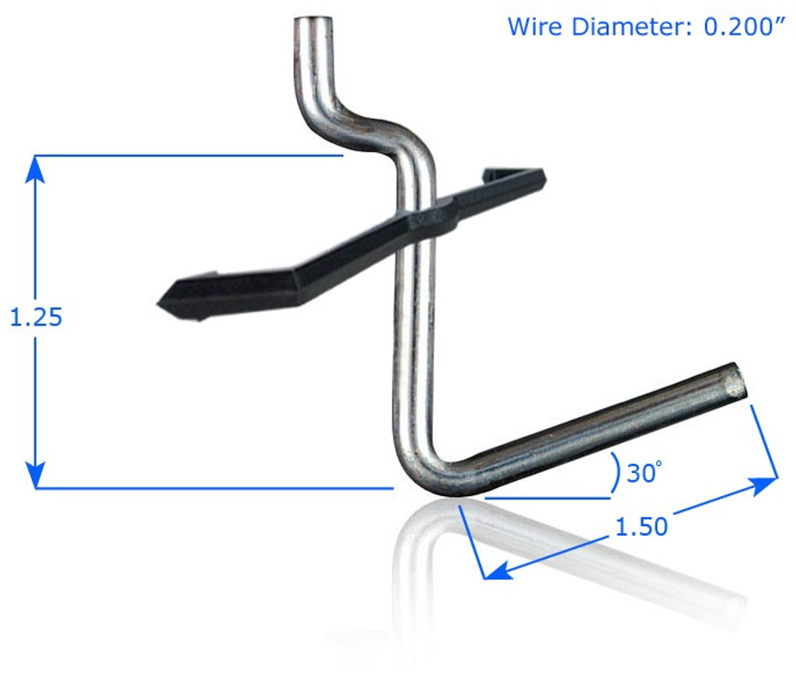 """Chrome Plated 1-1/2"""" Straight Hook with Peg Lock"""