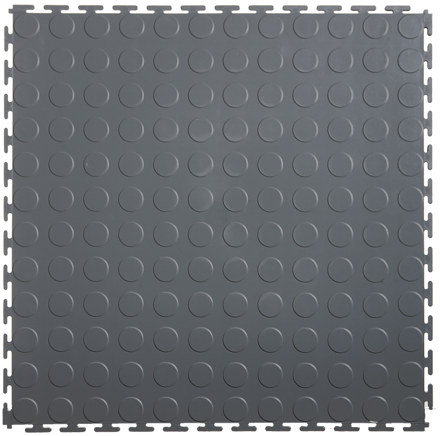 "Lock-Tile Coin Pattern Tiles 19-7/8"" x 19-7/8"" x 4.5MM (Sold by the Tile)"