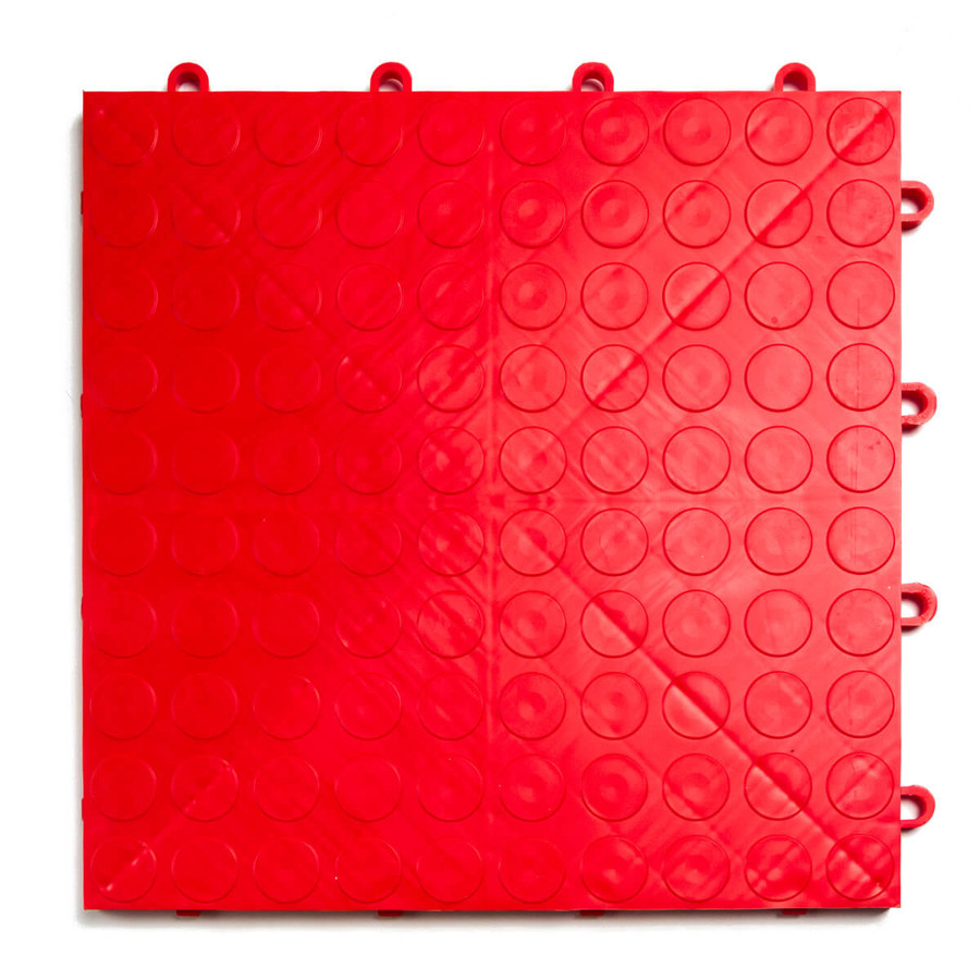 """EX Tile Coin Pattern 12"""" x 12"""" x 1/2"""" - Red"""