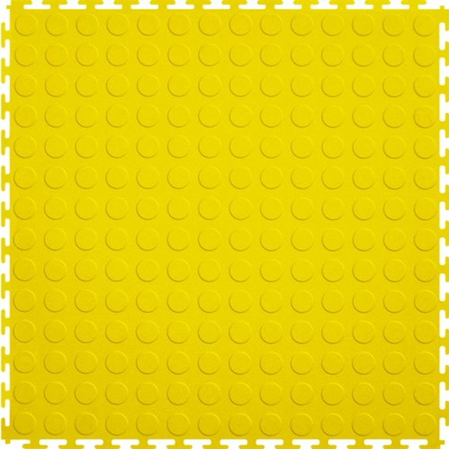 Perfection Floor Tile Coin Yellow