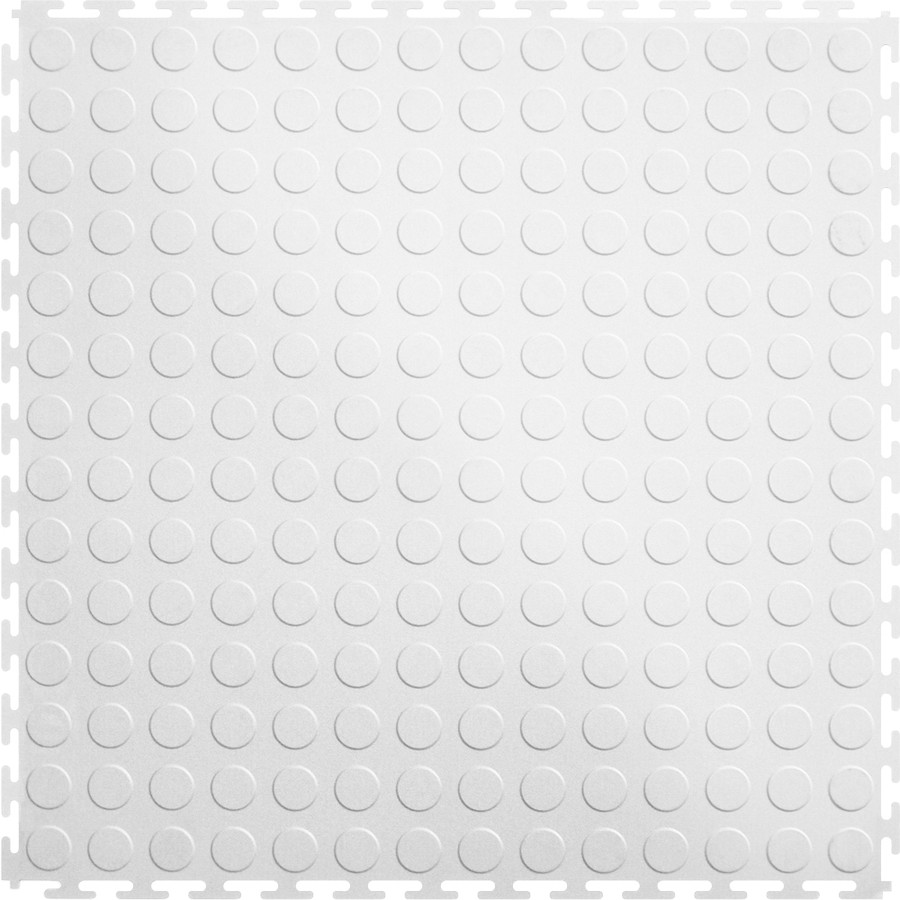 Perfection Floor Tile Coin White