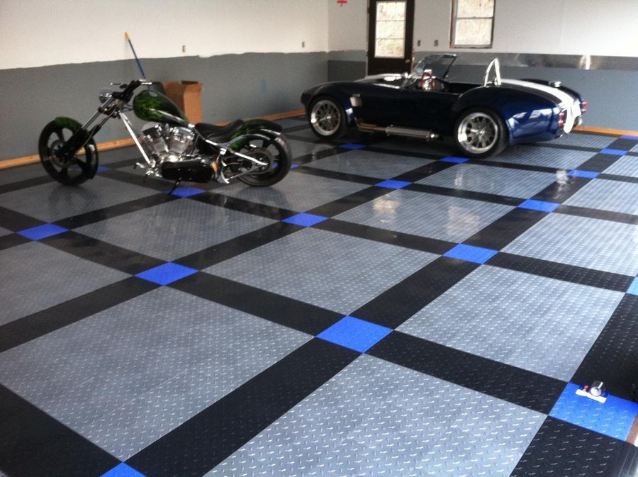 Tuff Shield Race Deck in a garage