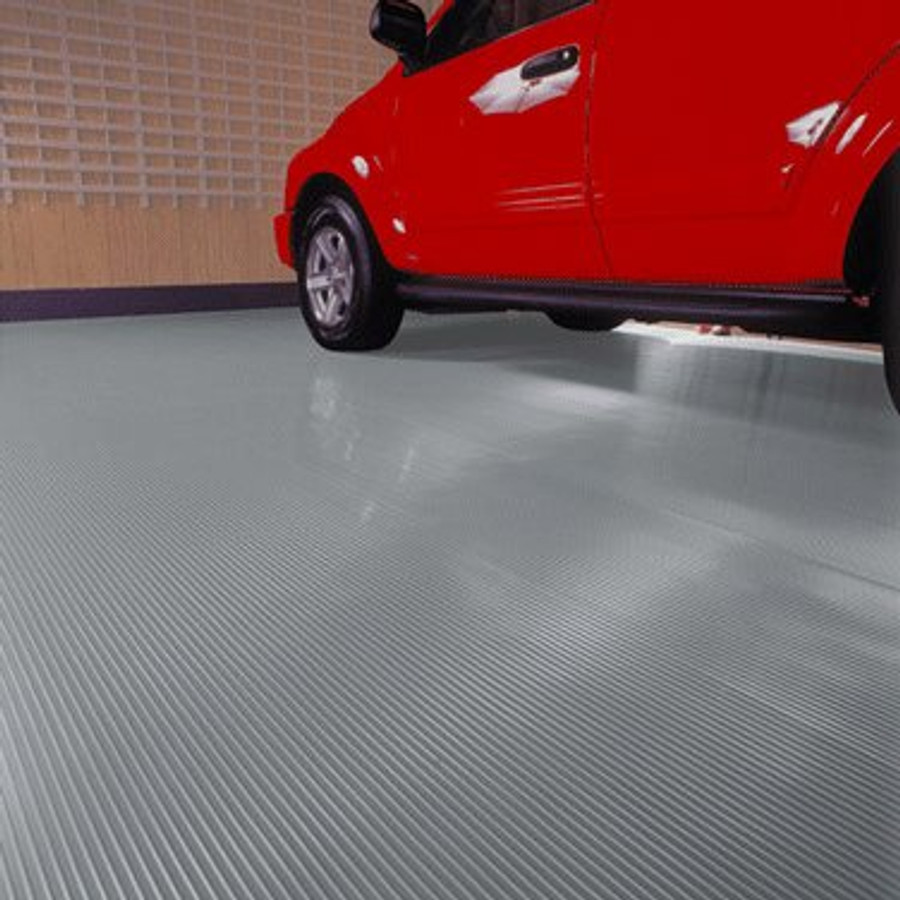 G Floor Roll Out Flooring Ribbed Slate Grey
